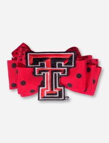 Texas Tech Double T Red Polka Dot Hair Bow