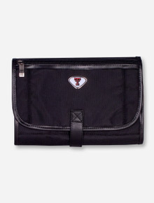 Texas Tech Double T Emblem on Black Travel Toiletry Bag