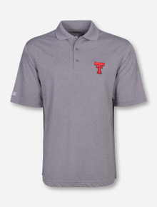 "Antigua Texas Tech ""Pique Xtra-Lite"" Throwback on Grey Polo"