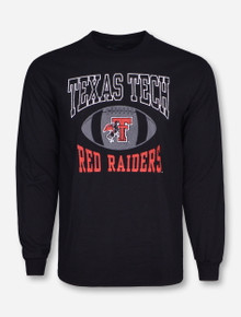 Retro Brand Texas Tech Pigskin on Black Long Sleeve Shirt