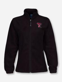 "Charles River Texas Tech ""Voyager"" on Black Fleece Jacket"