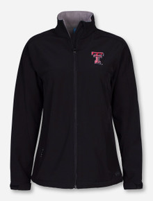 "Charles River Texas Tech ""Soft Shell"" on Women's Black Jacket"