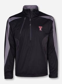 "Antigua Texas Tech ""Discover"" Double T on Black Half Zip Pullover"