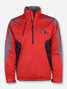 "Antigua Texas Tech ""Discover"" Lone Star Pride on Red Half Zip Pullover"