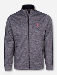 "Antigua Texas Tech ""Golf Jacket"" on Heather Charcoal Jacket"