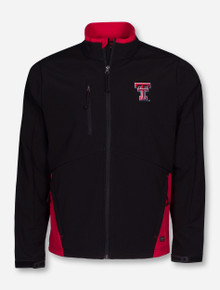 """Charles River Texas Tech """"Quest"""" Black and Red Soft Shell Jacket"""