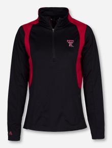"Antigua Texas Tech ""Delta"" Women's Red and Black Quarter Zip Pullover"