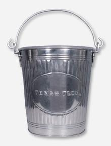 Texas Tech Metal Pail Wastebasket