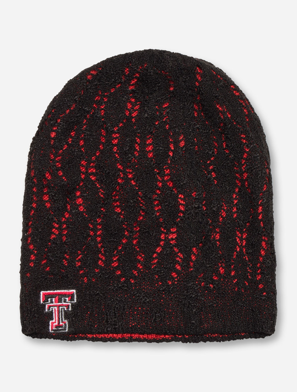 c8b033430ab ZooZatz Texas Tech Reversible Slouch Red   Black Beanie - Red Raiders