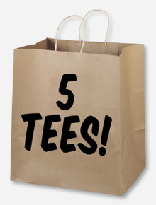 Brown Bag Special - 5 T-Shirts S-M (Random COLOR Gameday/Special Event T-shirts) Estimated Retail Value $119.99