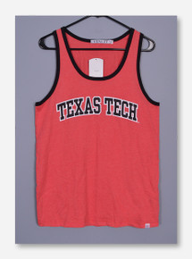 Texas Tech Bold Arch on Men's Red Tank Top