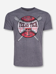 Texas Tech Dan Law Field Celebrate Baseball on Heather Grey T-Shirt