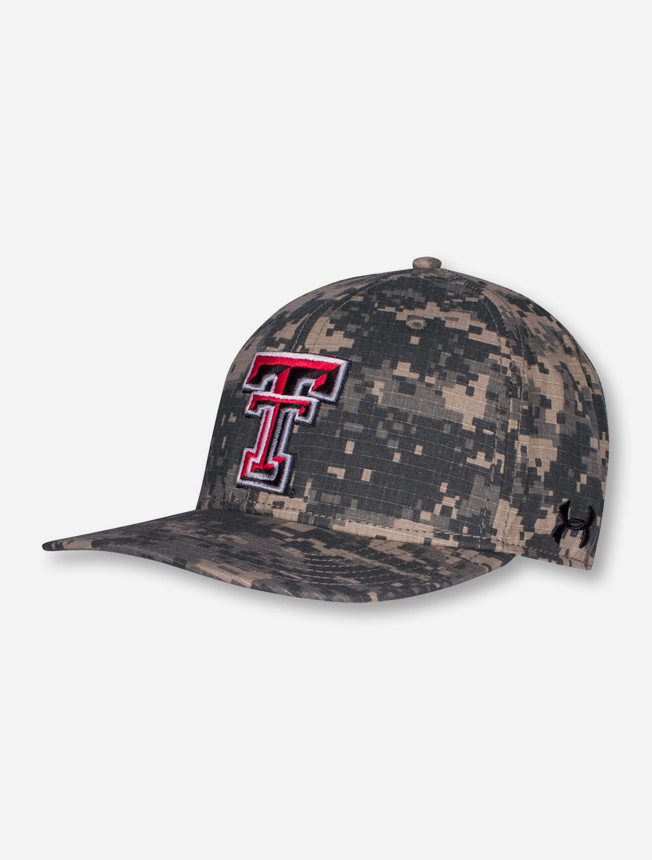 Under Armour Texas Tech Red Raiders 2016 On The Field Camo Stretch Fit Cap f8db3f0cfdd