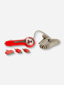 Texas Tech Double T on Red Illuminated Car Charger