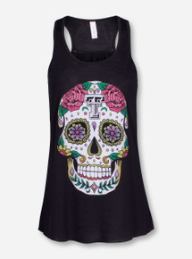 Texas Tech Dia de los Muertos Black Tank Top