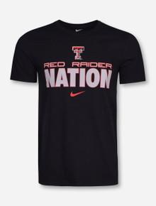 Nike Texas Tech Red Raider Nation on Black T-Shirt