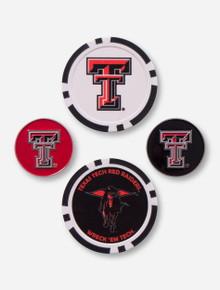 Team Effort Texas Tech 4 Ball Markers