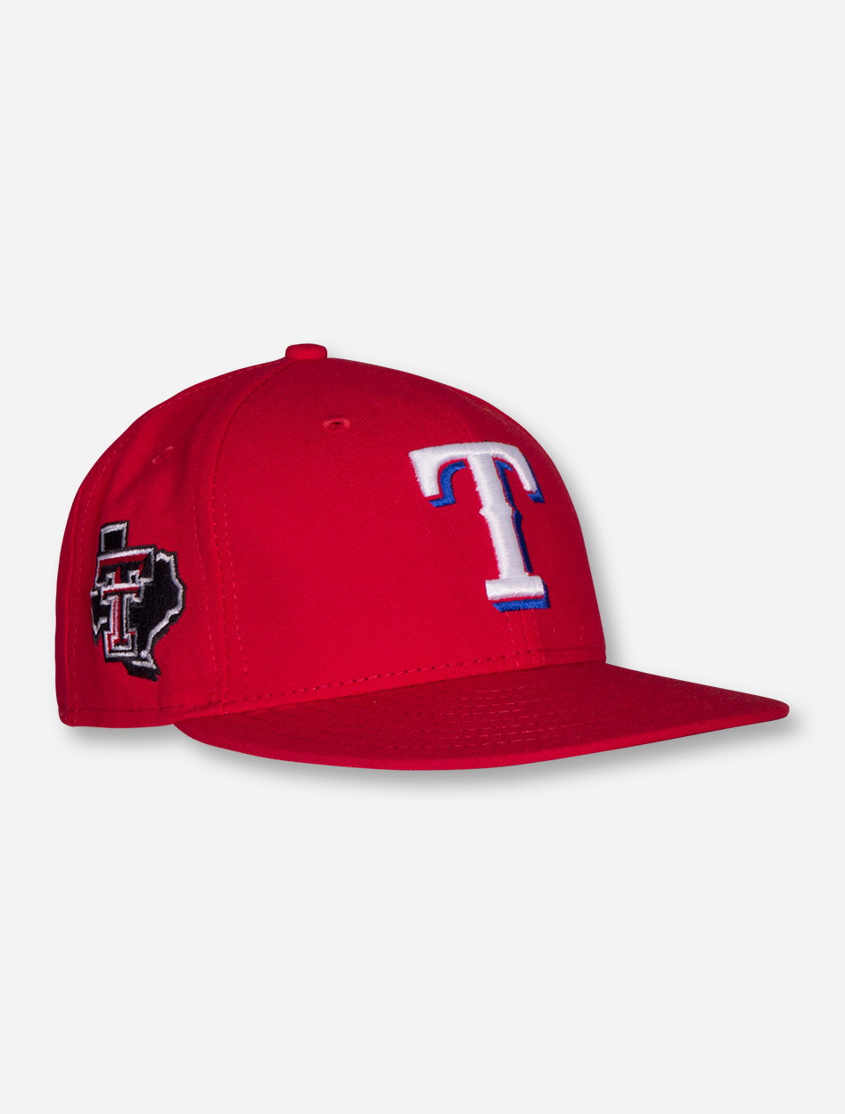 buy popular fdd1f aea68 New Era MLB Authentic Official On the Field Texas Rangers and Texas Tech  Red Raiders Red Fitted Cap