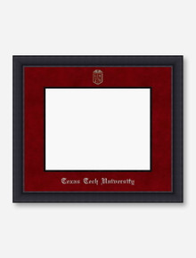 Silver Embossed Black Satin Red Suede Diploma Frame T6
