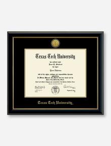 Gold Engraved Medallion Onyx Diploma Frame C8