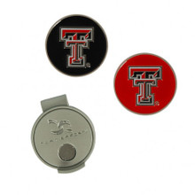 Team Golf Texas Tech Double T Cap Clip and Ball Markers