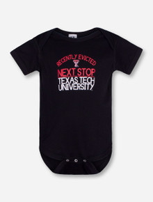 "Texas Tech ""Eviction Notice"" INFANT Black Onesie"