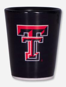 Texas Tech Double T on Black Shot Glass