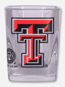 Texas Tech Double T on Square Shot Glass
