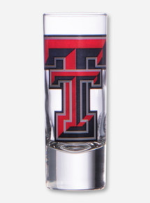 Texas Tech Large Double T on Tall Shot Glass