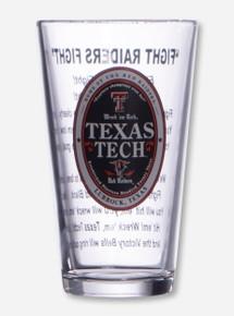 Texas Tech Fight Song Pint Glass