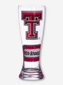 Texas Tech Double T Hand Painted Pilsner Glass