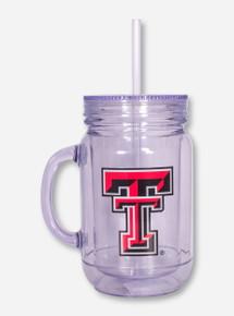Texas Tech Double T on Lidded Mug with Straw