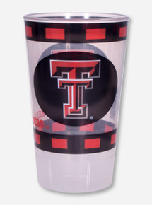 Texas Tech Double T Blocked Border Print Plastic Cup