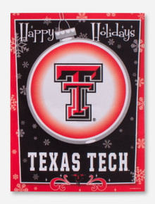 Texas Tech Happy Holidays Flag