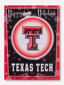 Texas Tech Happy Holidays Flag
