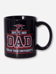 Texas Tech DAD on Black Coffee Mug