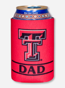 Texas Tech Dad on Red Can Cooler