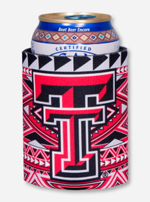 Texas Tech Double T Tribal Aztec Can Cooler