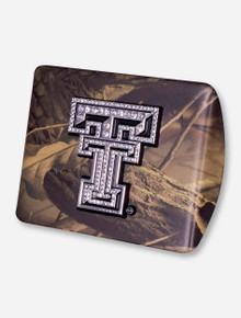 Texas Tech Rhinestone Double T on Camo Hitch Cover