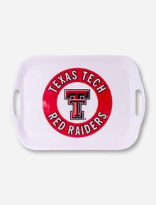 Texas Tech Red Raiders White Serving Tray