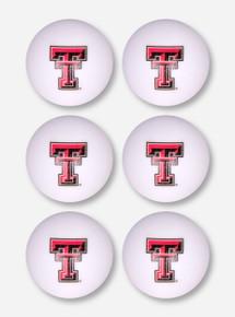 Texas Tech 6 Pack of Ping Pong Balls