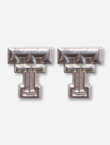 DaynaU Texas Tech Silver Double T Earring Studs