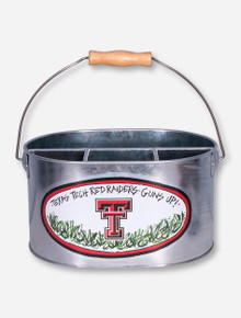 Texas Tech Red Raiders Guns Up Tin Utensil Holder