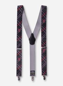 Texas Tech Double T Plaid Black Suspenders