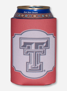 Texas Tech Black and White Double T Window Pane Can Cooler