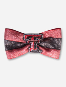 "Texas Tech Double T Glitter ""Tux"" Bow"