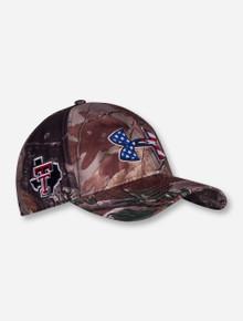 "Under Armour Texas Tech ""American Flag"" on Camo Adjustable Cap"