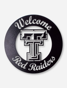 Texas Tech Welcome Red Raiders Ironworks Sign