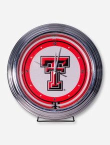 Texas Tech Neon Wall Clock