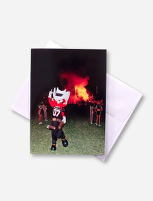 Texas Tech Raider Red Bonfire Celebration Photo Card